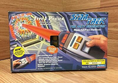 Star Trek The Next Generation TV Series Type 1 Phaser Playmates 1994 MINT IN BOX