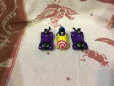Set of 3 DC Comics 2  Catwoman 1 Penguin Car Batman Toy Figure Happy Meal 1991