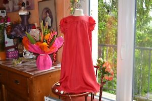 robe-bonpoint-6-ans-rouge-doublee-100-DE-SOIE-etat-parfait-chic-fete
