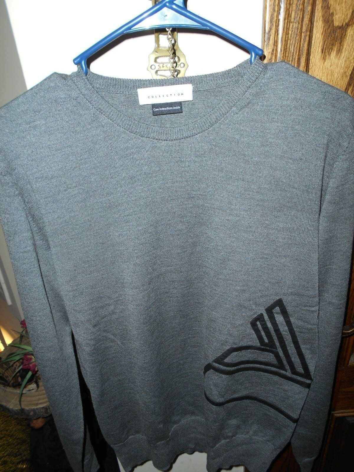 VERSACE COLLECTION MERINO WOOL SWEATER...XLT COND   SIZE LARGE