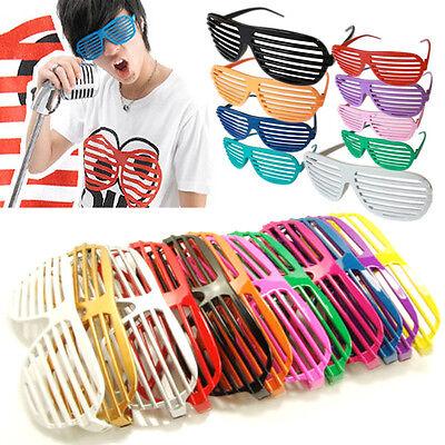 Fashion Retro Shutter Shades Glasses Fun Party Novelty Club Aviator Fancy Dress