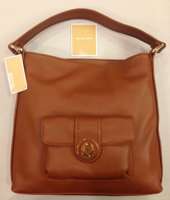 e0d8f5c03740 Michael Kors Pushlock Women MK Shoulder Bag Tote Luggage Real ...
