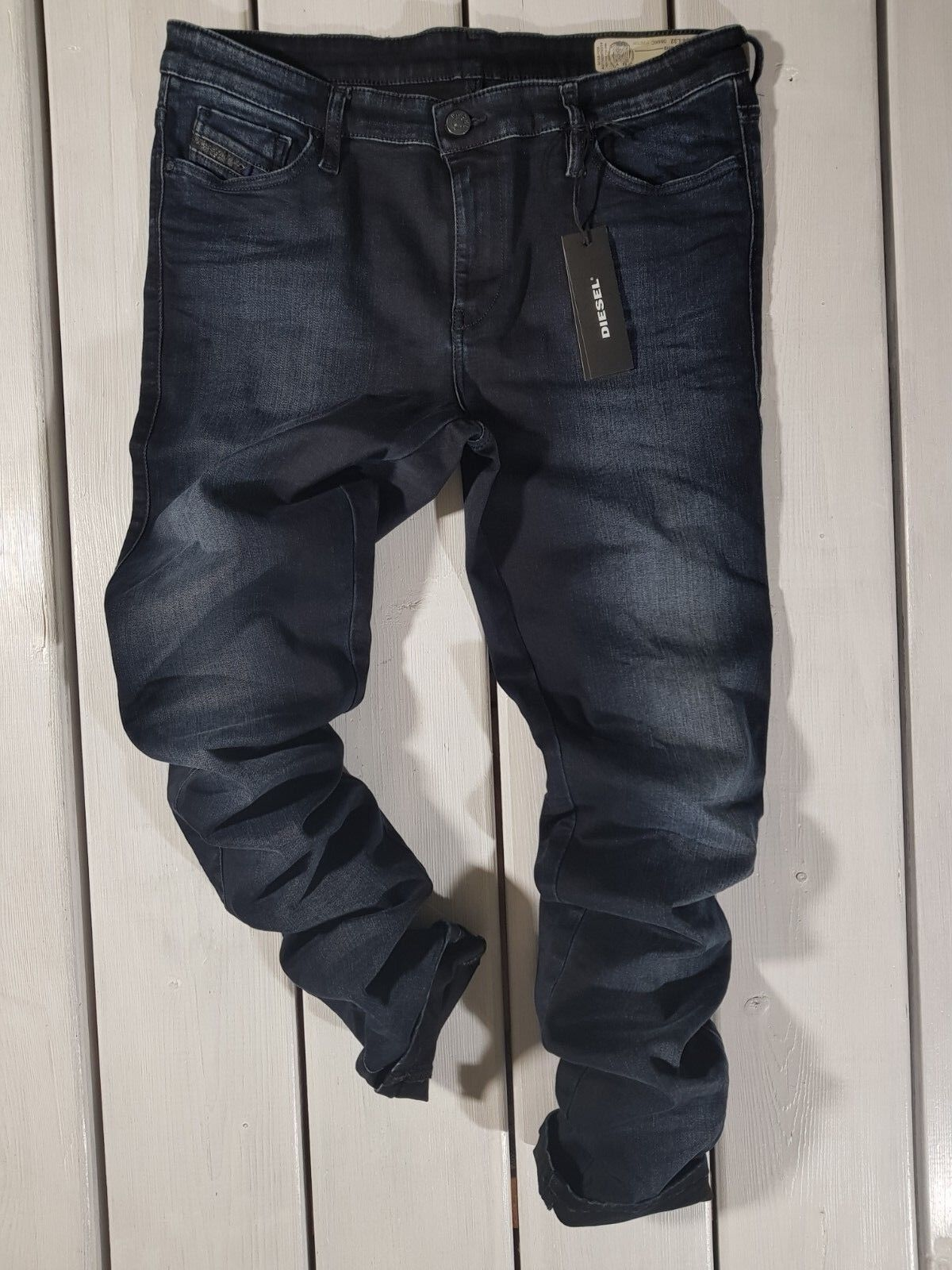 Neu Diesel DAMEN Jeans W34 L32 Skinzee 084KC Supereng Skinny Reg