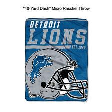 "NFL Detroit Lions 40-Yard Dash Micro Raschel Throw Blanket 40"" x 60"""