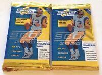 2x 2000 Score Football Retail Pack Tom Brady Rc Rookie Autograph/millennium Men?