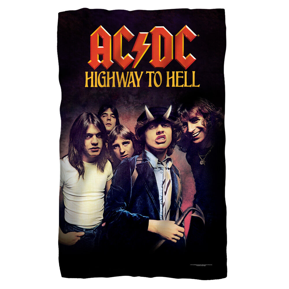 AC DC Highway To Hell POLAR FLEECE BLANKET Sized 36 x 58 OFFICIAL Licensed