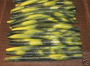 "5/"" Stick Senko Style Watermelon Red Magic 50 count bag bulk Plastic Worm Bass"