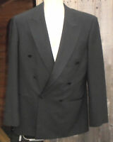 Double Breast Black Smart Evening Dress Jacket M&s Chest 40 S Fast Post (59)