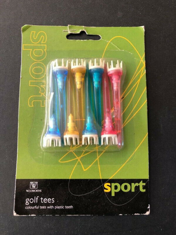 Funky neon Golf tees - pack of 8 -  get ready for the greens!