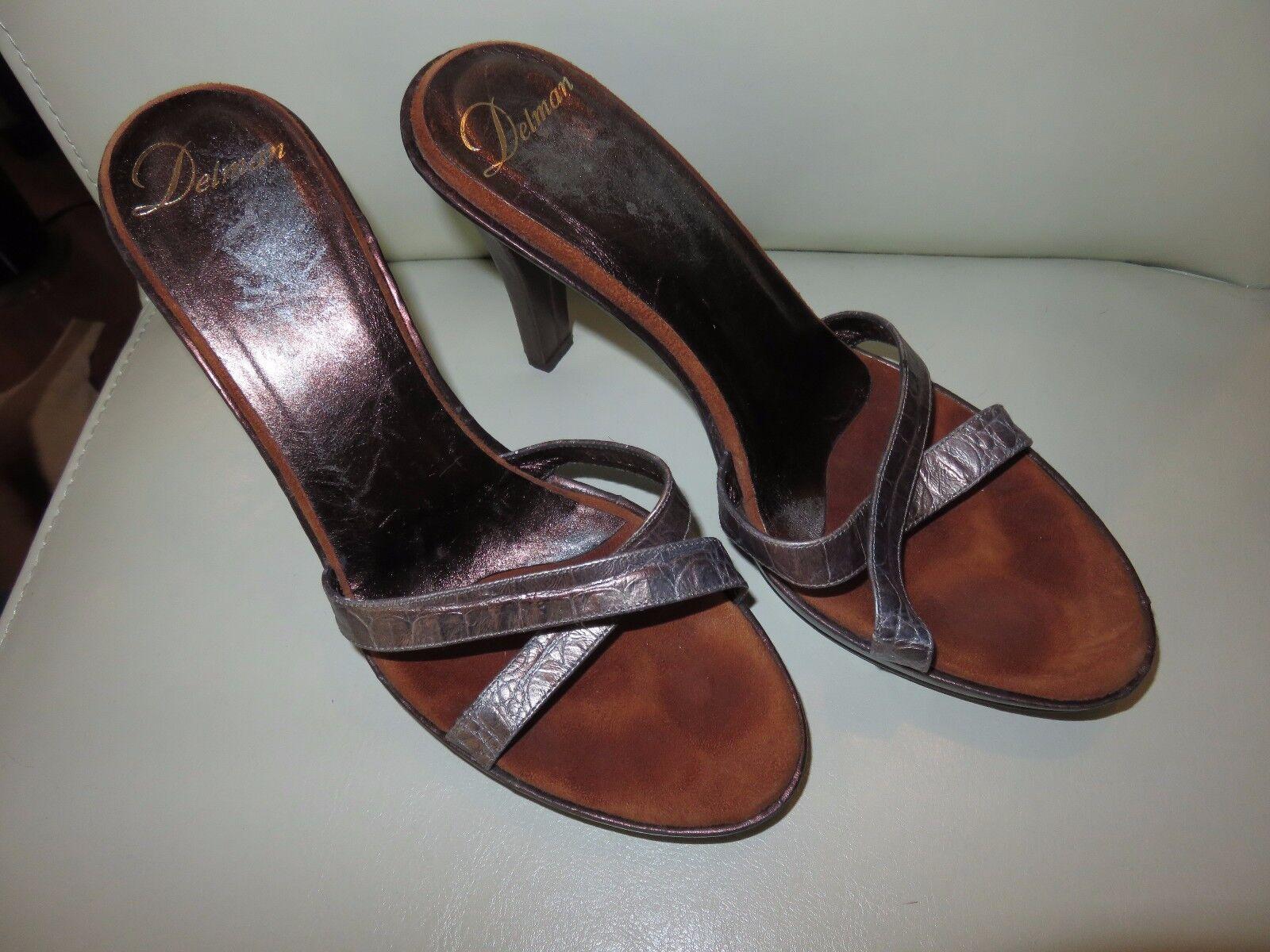 Beautiful size Delman size Beautiful 6 open toe sandals metallic brown ebcff4