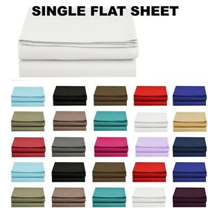 1500 thread count single flat sheet top sheet available in 12 colors all sizes ebay. Black Bedroom Furniture Sets. Home Design Ideas