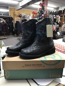 Boots Black Rider 7 Roper Ladies Chunk Cowboy Size Nwt xqSwRUOO