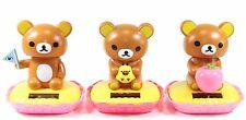 Rilakkuma Relax Bear With Flag&Apple&Bird Japan Figure Solar Toy Gift USA Seller