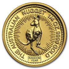 Australia 1/4 oz Gold Kangaroo/Nugget BU (Random Year) - SKU #23071