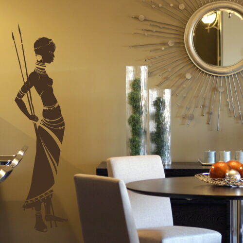 Stylish Art Decor Big Art Wall Decal X66 African Tribe Removable Vinyl Decal