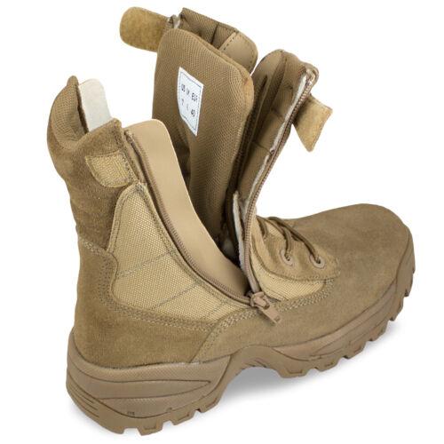 Tactical Mil tec Boots Army Side Tutte Tan Desert Zip Double le misure Army qBwqF