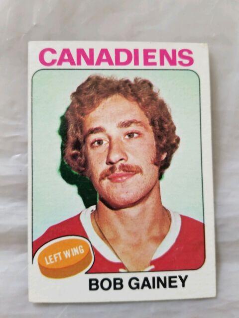 1975-76 Topps #278 Bob Gainey Montreal Canadiens Hockey Card