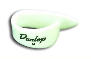 DUNLOP 9012R White THUMB PICKS 6 PICKS Left Hand Medium