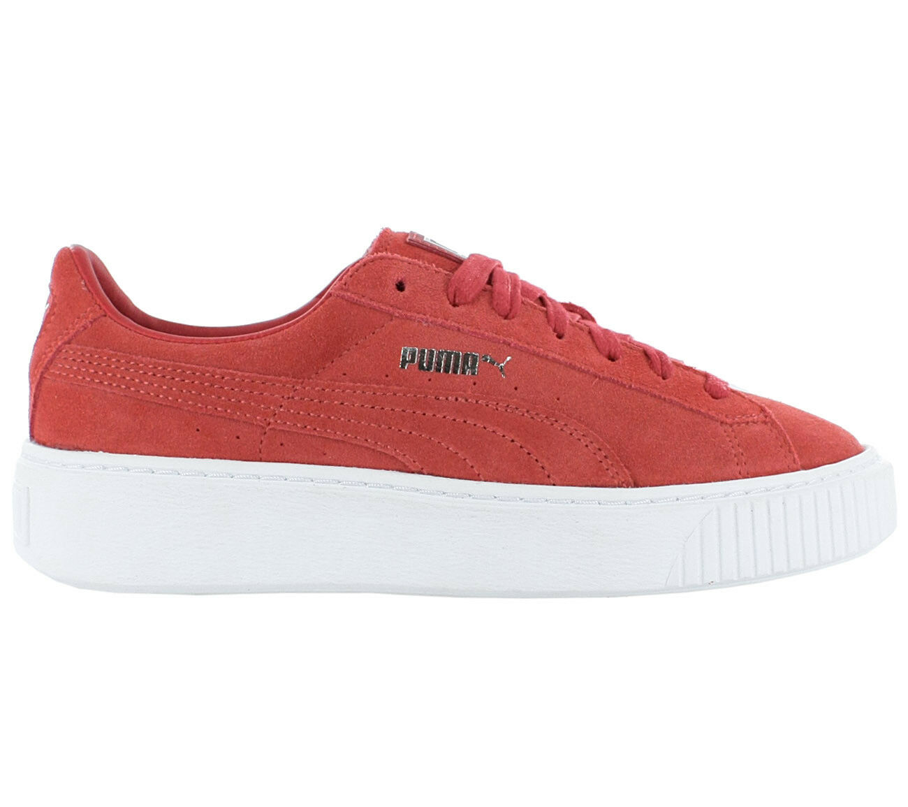 Puma Suede Platform Ladies Sneaker shoes Leather Red Gym shoes New 362223 03