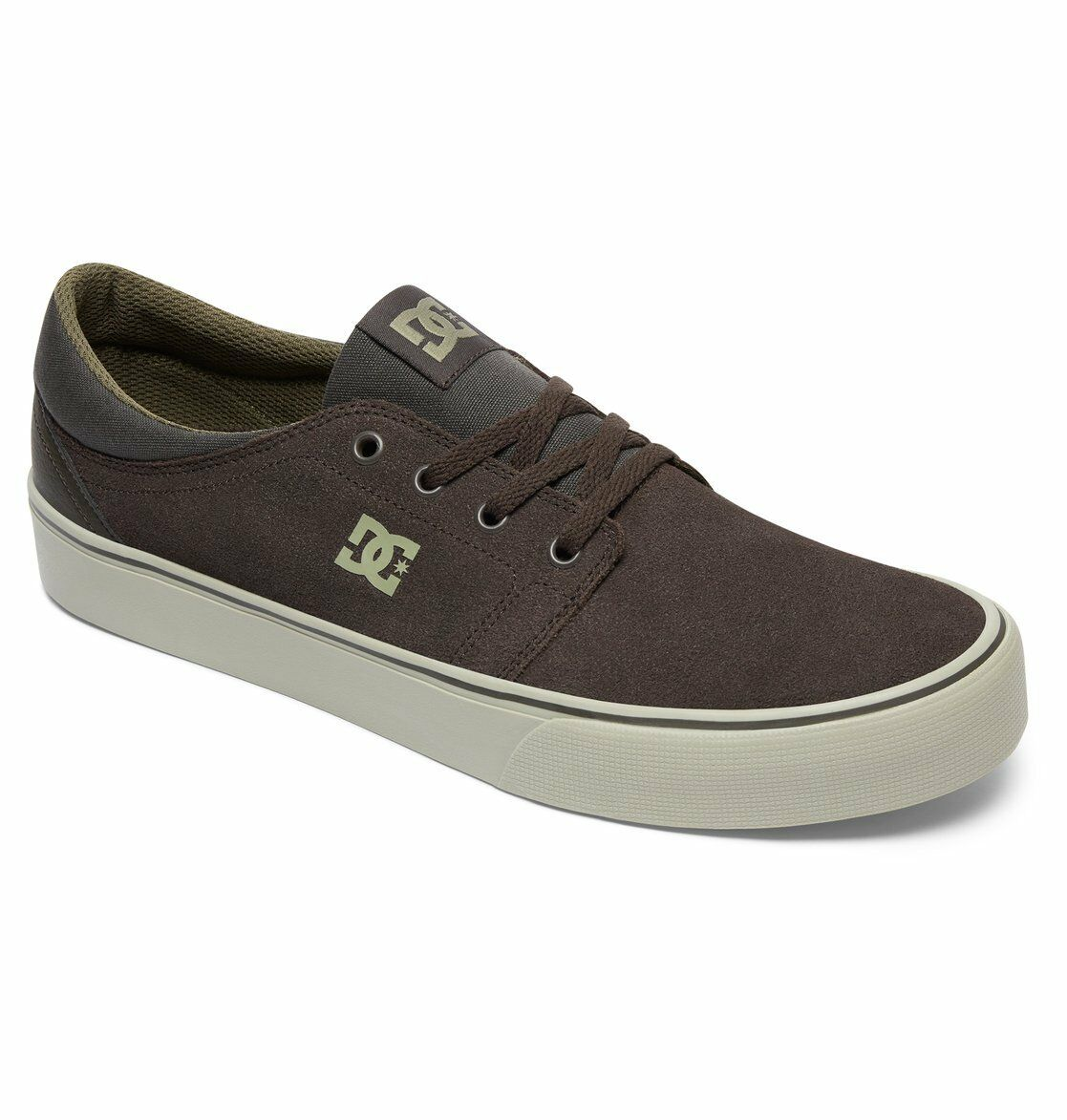 Dc Shoes Trase Sd Veloursleder Militärgrün - Creme BDYS300172 MC3 Herren
