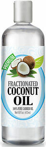 Fractionated Coconut Oil - 100% Pure Carrier Premium Therapeutic Grade Oil, 16oz