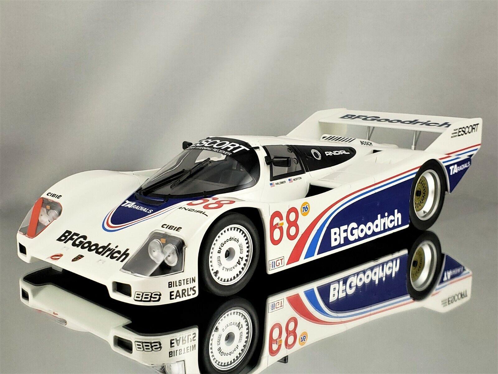 Norev Porsche 962 IMSA Winner Riverside 1985 Halsmer Morton BF Goodrich 1 18
