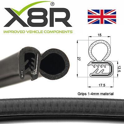 12mm Medium Car Door Boot Bonnet Rubber Edging Trim Seal Pad Protection 17mm