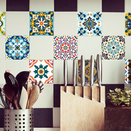 Tile Wall Stickers Self Adhesive Waterproof Wall Decal Room Kitchen Decor DIY