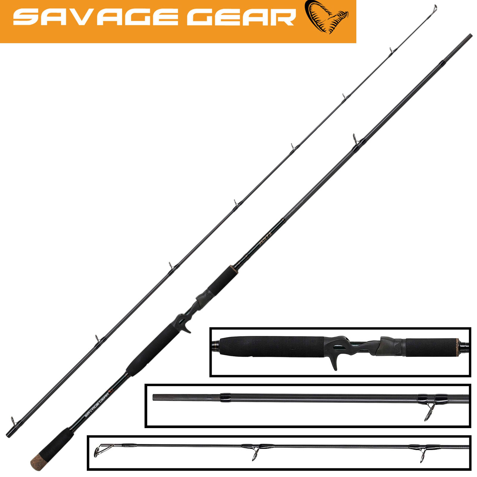 Savage Gear XLNT 3 Spinnrute 2,51m 150g - Hechtrute für Kunstköder, Spinnrute
