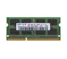 Samsung 4GB 2RX8 DDR3 1066MHz PC3-8500S 204Pin SO-DIMM RAM Intel Laptop Memory