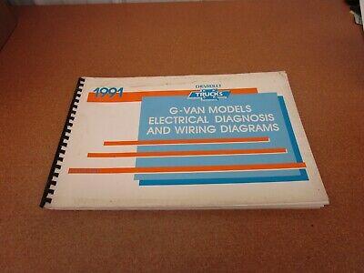 1991 Chevrolet G Van Sportvan G10 G20 Electrical Wiring Diagrams Service Manual Ebay