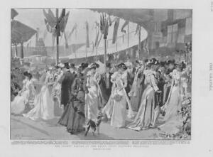 1901-Antique-Print-LONDON-Earls-Court-County-Bazaar-Military-Exhibition-99