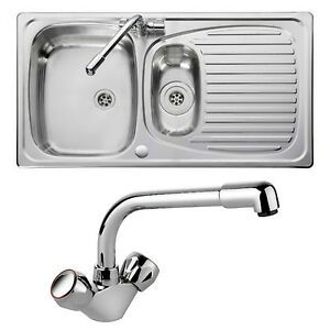 Leisure Sinks Euroline EL9502/TC sink and tap 1.5 bowl Stainless ...