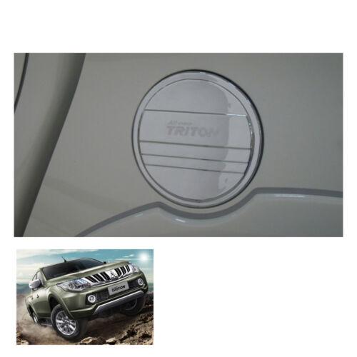 For Mitsubishi Pickup L200 Triton on 2015-17 Tank Cover Fuel Cap Chrome 4 Door