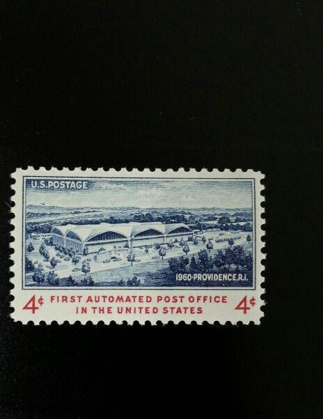 1960 4c First Automated Post Office, Providence, R.I. S