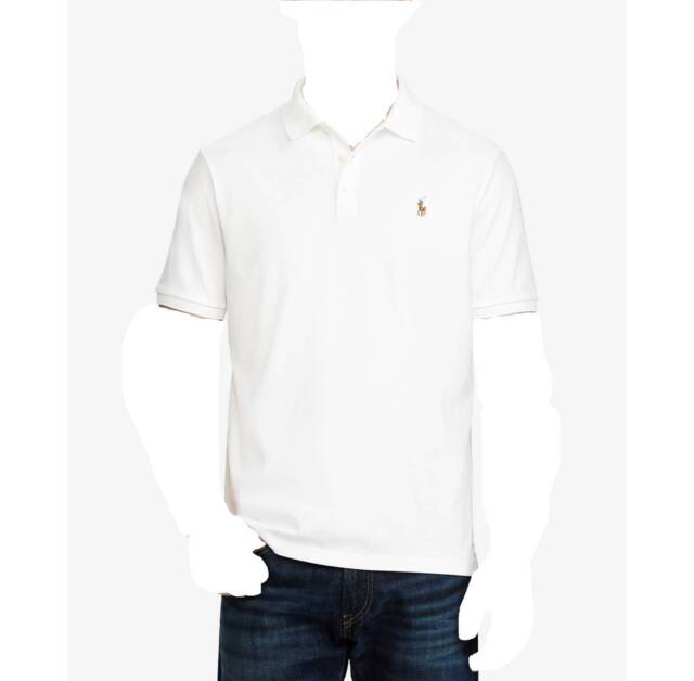$545 POLO RALPH LAUREN Men CLASSIC-FIT WHITE SHORT-SLEEVE PONY DRESS SHIRT  XXL