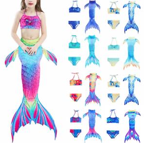 Bademode Schwanz Badeanzug Meerjungfrau Bikini Mädchen Kinder Kostüm Schwimmen