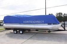 NEW VORTEX COMBO PACK BLUE 24' ULTRA PONTOON/DECK BOAT COVER+DUAL SUPPORT SYSTEM