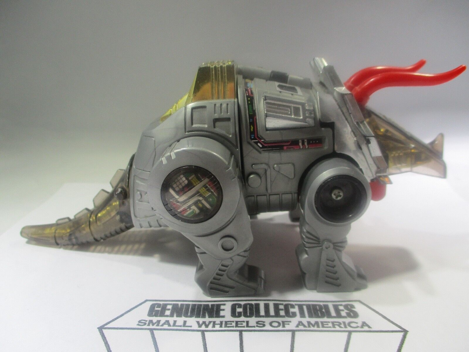 Vintage  Transformers G1 Dinobot SLAG+Weapons+Tech Card Hasbro 1985