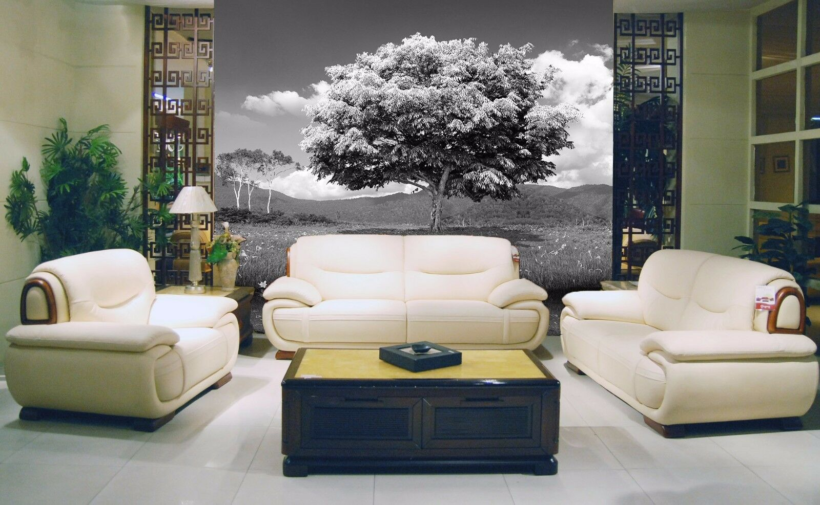 3D Grauer Wolken Baum 8 Tapete Wandgemälde Tapete Tapeten Bild Familie DE Summer