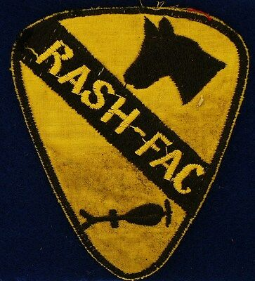 US Army 1st CAV  RASH-FAC Theater Made Vietnam Patch A-5