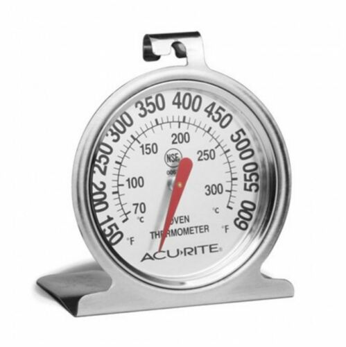 New Acurite Kitchen Essentials Oven Thermometer Stainless Steel Baking Pastries