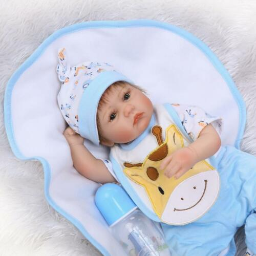 "Reborn Baby Boy Preemie 17/"" Newborn Baby Doll Realistic Silicone Vinyl Handsome"