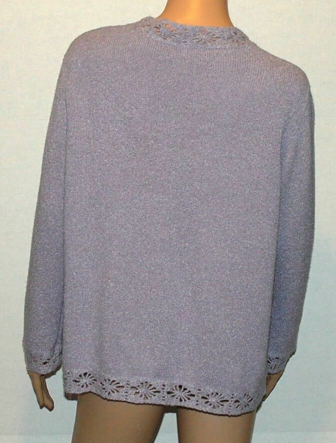 Valentino Boutique Lilac Silk Blend Open Front Ca… - image 5