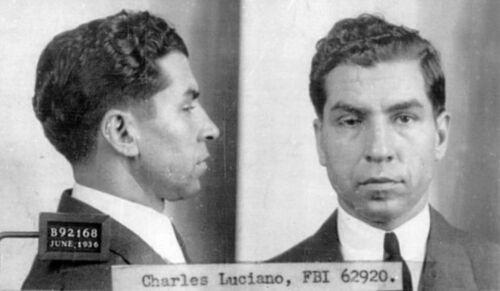 LUCKY LUCIANO MUG SHOT GLOSSY POSTER PICTURE PHOTO MAFIA MUGSHOT ITALIAN GANG 5