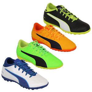 Détails sur Boys Football Trainers PUMA Enfants Astro Turf EVO Touch Power Bottes Chaussures De Sport afficher le titre d'origine