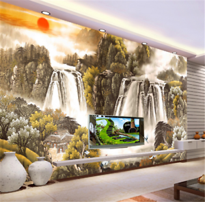 3D Sun Landscape Paint 837 Wallpaper Mural Paper Wall Print Wallpaper Murals UK