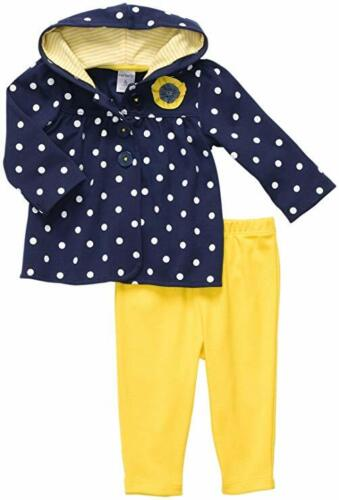 NWT Carter/'s Baby Girls Quick /& Cute Cardigan Set 2 piece Outfit yellow Navy New
