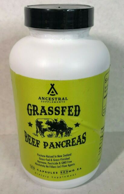 Ancestral Supplements Grass Fed Pancreas — Digestive, Proteolytic Enzymes