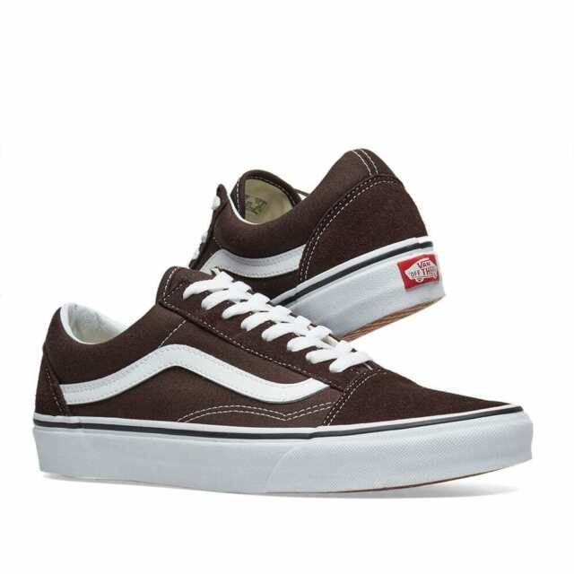 Vans Off the Wall Old Skool Chocolate Torte Brown White Shoes Mens 5.5 Womens 7